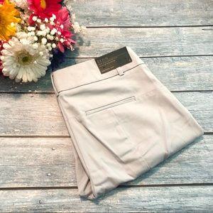 NWT Ann Taylor Devin Crop Khaki Pants Sz 2